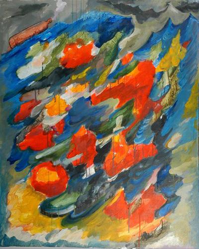 『大岡信の詩-故郷の水へのメッセージ』  仏40号(100×81cm)