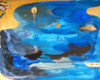 「大岡信の詩-悲しむとき」 仏25号(65×81cm)