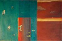 「大岡信の詩-風の説II」 仏25号(81×83cm)