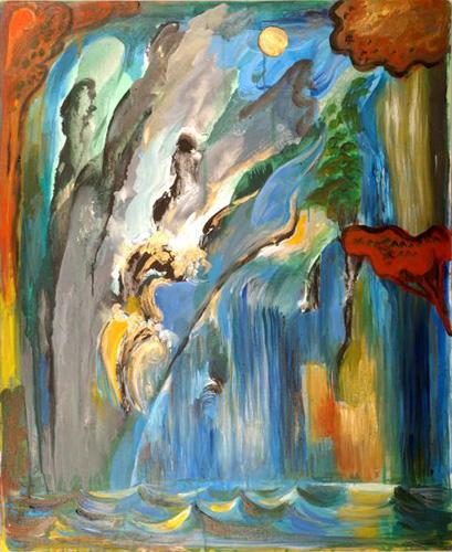 『大岡信の詩-水府』 仏20号(73×60cm)