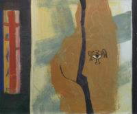 「大岡信の詩-二人」 仏8号(46×38cm)