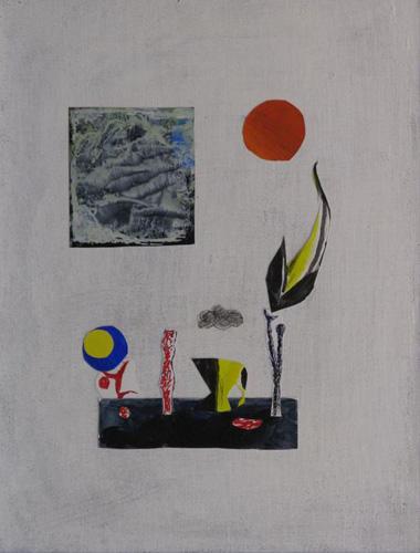 『大岡信の詩-静物』  仏5号(35×27cm)