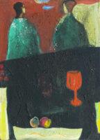 「大岡信の詩-きみはぼくのとなりだった」 仏4号(33×24cm)
