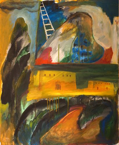 『十字架の聖ヨハネの詩-漆黒の夜II』  仏20号(73×60cm)
