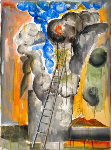 『十字架の聖ヨハネの詩-漆黒の夜III』  仏20号(73×54cm)