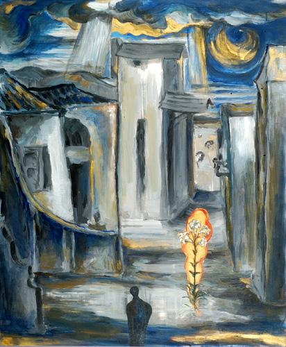 『十字架の聖ヨハネの詩-漆黒の夜VI』  仏20号(73×60cm)
