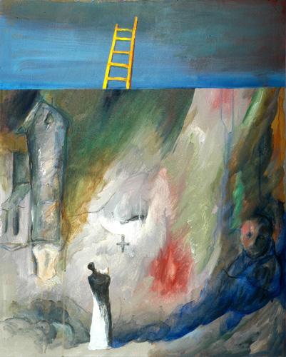 『十字架の聖ヨハネの詩-漆黒の夜VII』  仏20号(73×60cm)