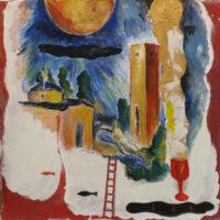 「十字架の聖ヨハネの詩-漆黒の夜」 仏6号(41×41cm)
