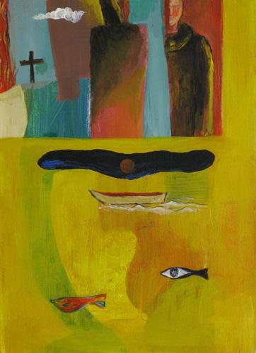 『十字架の聖ヨハネの詩-漆黒の夜』 仏4号(33×24cm)