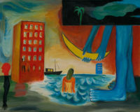 「不眠の天使-海浜の宵」 F40