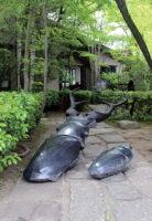 「寄り添うフローレス島のクワガタ」 御影石、ブロンズ 68×144×h64cm + 23×50×h15cm