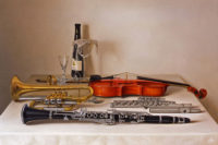 「テーブルの上の四つの楽器」 30M