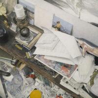 「#メメントモリな風景について」 Oil and acrylic on canvas 180×180(㎜)