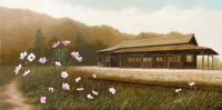 「秋桜」 65.2×32.4cm