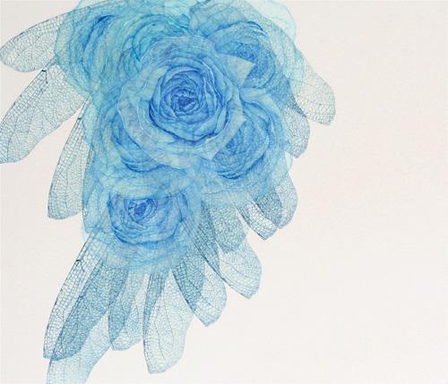 「Innocent blue ⅩⅡ」  10F(455×530mm)