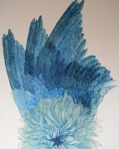 『Innocent blue -WING-Ⅱ』  30F(910×728mm)
