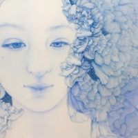 「Innocent blue -Chiyo Ⅰ」 	10S(530×530mm)