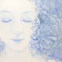 「Innocent blue -Chiyo Ⅱ」 10S(530×530mm)