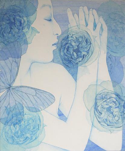 「Innocent blue -Chiyo Ⅳ」  20F(727×606mm)