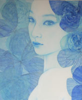 「Innocent blue -Chiyo Ⅴ」 20F(727×606mm)