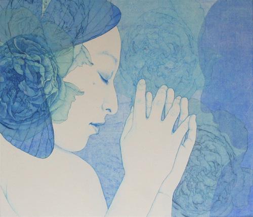 「Innocent blue -Chiyo Ⅵ」  10F(455×530mm)