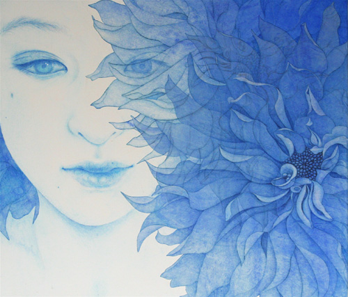 「Innocent blue -Chiyo Ⅶ」  10F(455×530mm)
