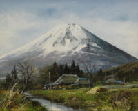 林喜市郎 「忍野富士」