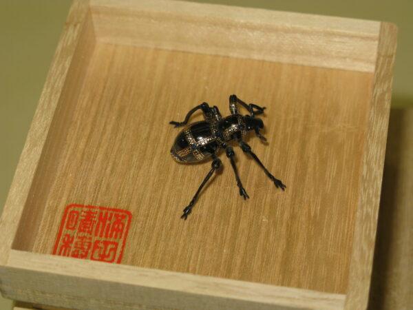 満田晴穂 「自在螺鈿硬象虫」 35×23×16mm